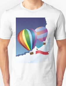 Air balloons in the sky 2 Unisex T-Shirt