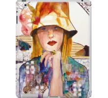 Flowered Hat iPad Case/Skin