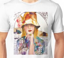Flowered Hat Unisex T-Shirt