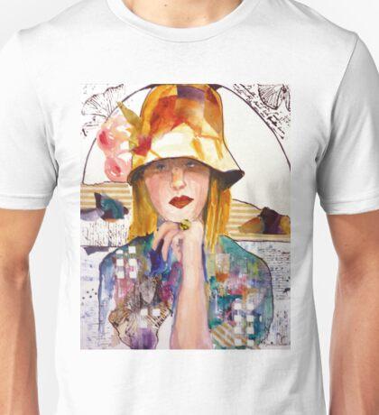 Flowered Hat Unisex T-Shirt
