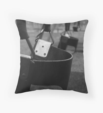 too early for swings... Throw Pillow