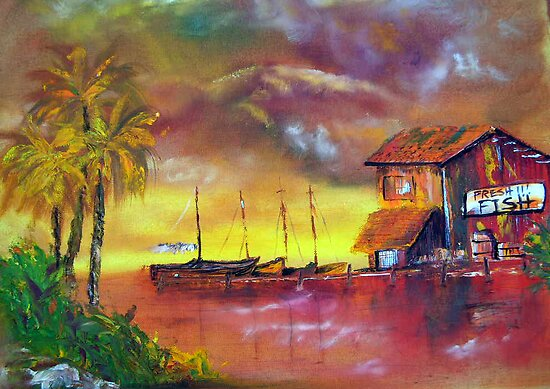 the old fish house in miami by Harry Gray