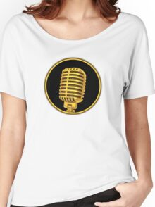 Vintage Gold Microphone Women's Relaxed Fit T-Shirt