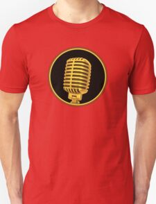 Vintage Gold Microphone T-Shirt