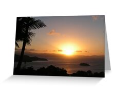 Sunset over hamilton Island, Australia Greeting Card