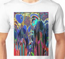 Blue Poppies in garden Unisex T-Shirt