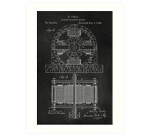 Tesla Coil Patent Art Art Print