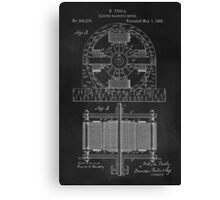 Tesla Coil Patent Art Canvas Print
