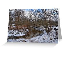 Winter In The Garden State Greeting Card