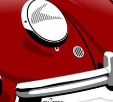 VW Beetle type 1 red Sticker