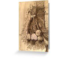 garlic's flavor Greeting Card