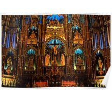 Choir of Notre-Dame Basilica, Montreal  Poster