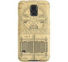 TESLA POSTER Electric Motor 1888 Patent  Samsung Galaxy Case/Skin