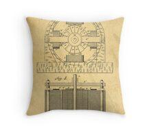TESLA POSTER Electric Motor 1888 Patent  Throw Pillow
