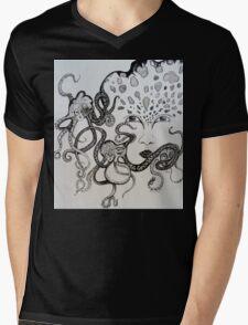 Facing Depths Mens V-Neck T-Shirt