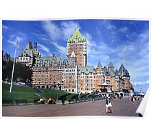 The Frontenac Castle in Québec Poster