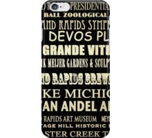 Grand Rapids Michigan Famous Landmarks iPhone Case/Skin