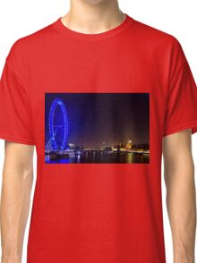 London Eye and the Houses of Parliament, England Classic T-Shirt