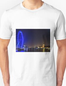 London Eye and the Houses of Parliament, England Unisex T-Shirt