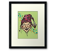 Lucky elf Framed Print