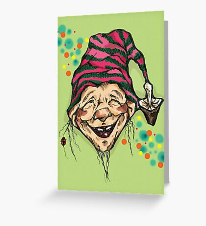 Lucky elf Greeting Card