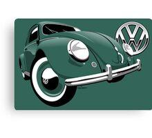 VW Beetle type 1 green Canvas Print