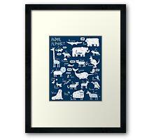 Animal Alphabet Framed Print