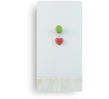 3d heart hanging on door knob Canvas Print