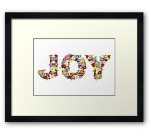 JOY Spring Flowers Framed Print