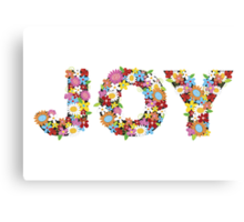JOY Spring Flowers Canvas Print