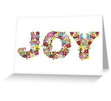 JOY Spring Flowers Greeting Card