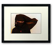 African Ninja girl Framed Print