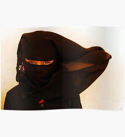 African Ninja girl Poster