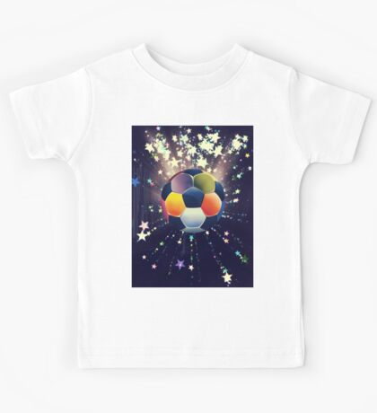 Stars Explosions and Soccer Ball 2 Kids Tee