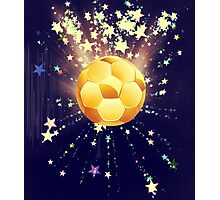 Stars Explosions and Soccer Ball 3 Photographic Print