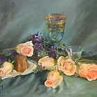 Scattered Roses by Kathy Cooper
