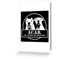 ACAB Greeting Card
