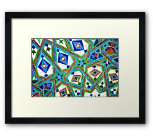 Old Moroccan Tiles 2 Framed Print