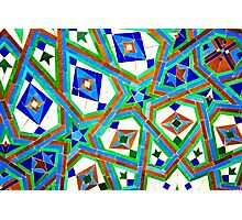 Old Moroccan Tiles 2 Photographic Print