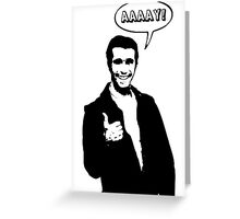 Happy Days Fonzie T-Shirt Greeting Card