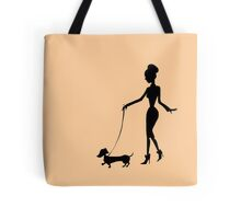 Flaunting The Pooch (peach) Tote Bag