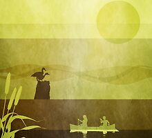 Ducks: Standing: Warm Gold by Steven House
