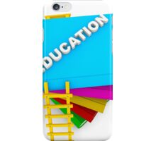 education concept, text on colorful books iPhone Case/Skin