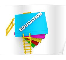 education concept, text on colorful books Poster
