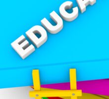 education concept, text on colorful books Sticker