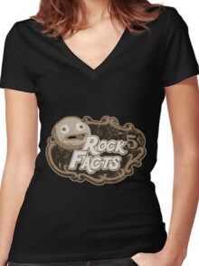 rock facts Women's Fitted V-Neck T-Shirt