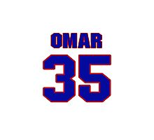 National baseball player Omar Quintanilla jersey 35 Photographic Print