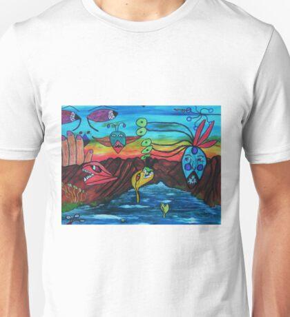Negatives invading a positive world Unisex T-Shirt