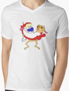 Retro Ren & Stimpy Tribute Mens V-Neck T-Shirt