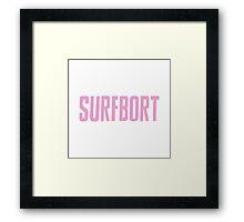 Beyonce Pink Surfbort Surfboard Funny Design Framed Print